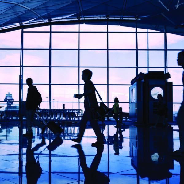 Inside Hong Kong Airport