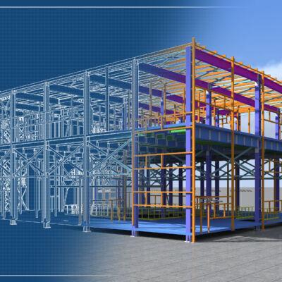 2D model transforming into 3D / 4D planning / 5D model