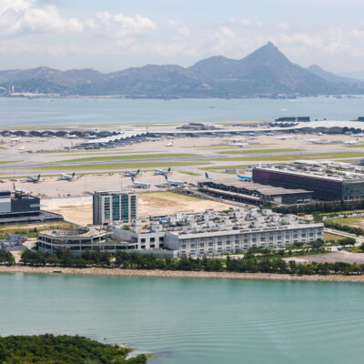 Hong Kong International Airport - Chek Lap Kok - aerial view