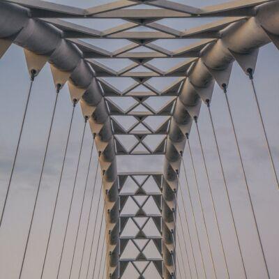 Abstract bridge roof pattern, Toronto Humber Bridge