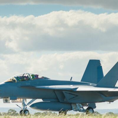 Air Force jet landing